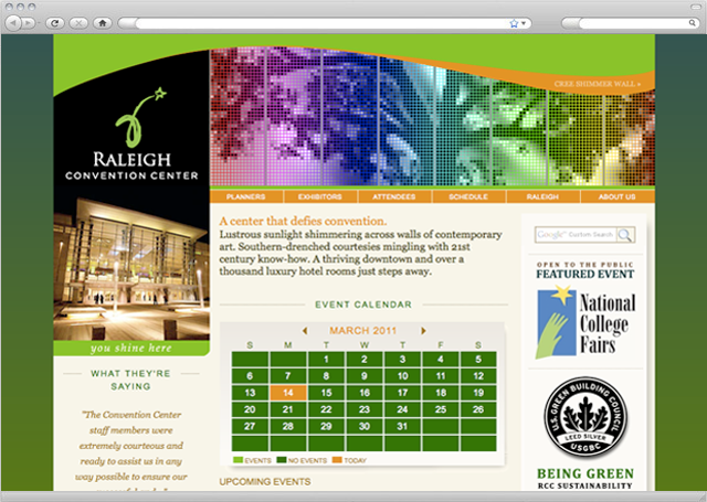 Raleigh Convention Center Website